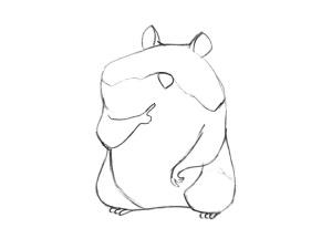 как нарисовать хомяка карандашом поэтапно