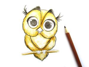 как нарисовать сову поэтапно