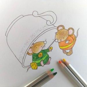 как нарисовать мышку карандашом поэтапно