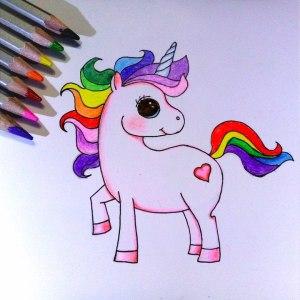 как нарисовать единорога поэтапно карандашом
