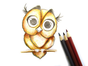как нарисовать сову карандашом