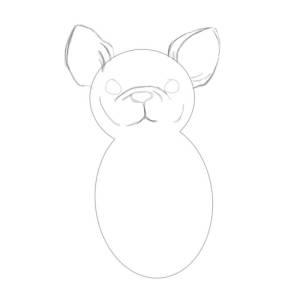 как нарисовать бульдога карандашом