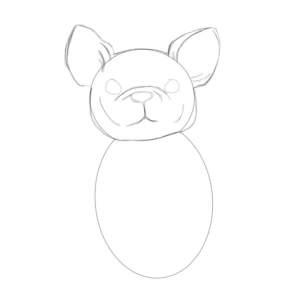нарисовать бульдога карандашом поэтапно