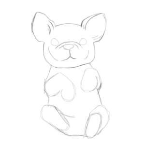 нарисовать бульдога ребенку