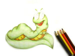 нарисовать гусеницу поэтапно