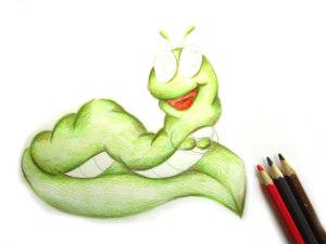 рисунок гусеницы